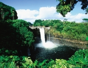 Waianuenue, also known as Rainbow Falls. Island of Hawaii.
