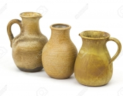Clay pots, old ceramic vases