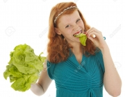 Young woman at diet