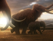 Programme Name: Mammoth - TX: 04/04/2012 - Episode: n/a (No. n/a) - Embargoed for publication until: n/a - Picture Shows: CGI still of Mammoths  - (C) BBC - Photographer: n/a